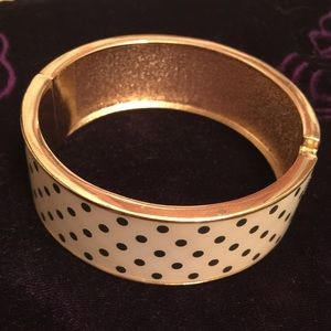 Polka Dot Bangle Style Bracelet Easy Open